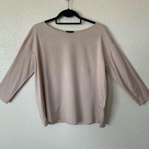 Theory 3/4 Sleeve Silk Layering Blouse